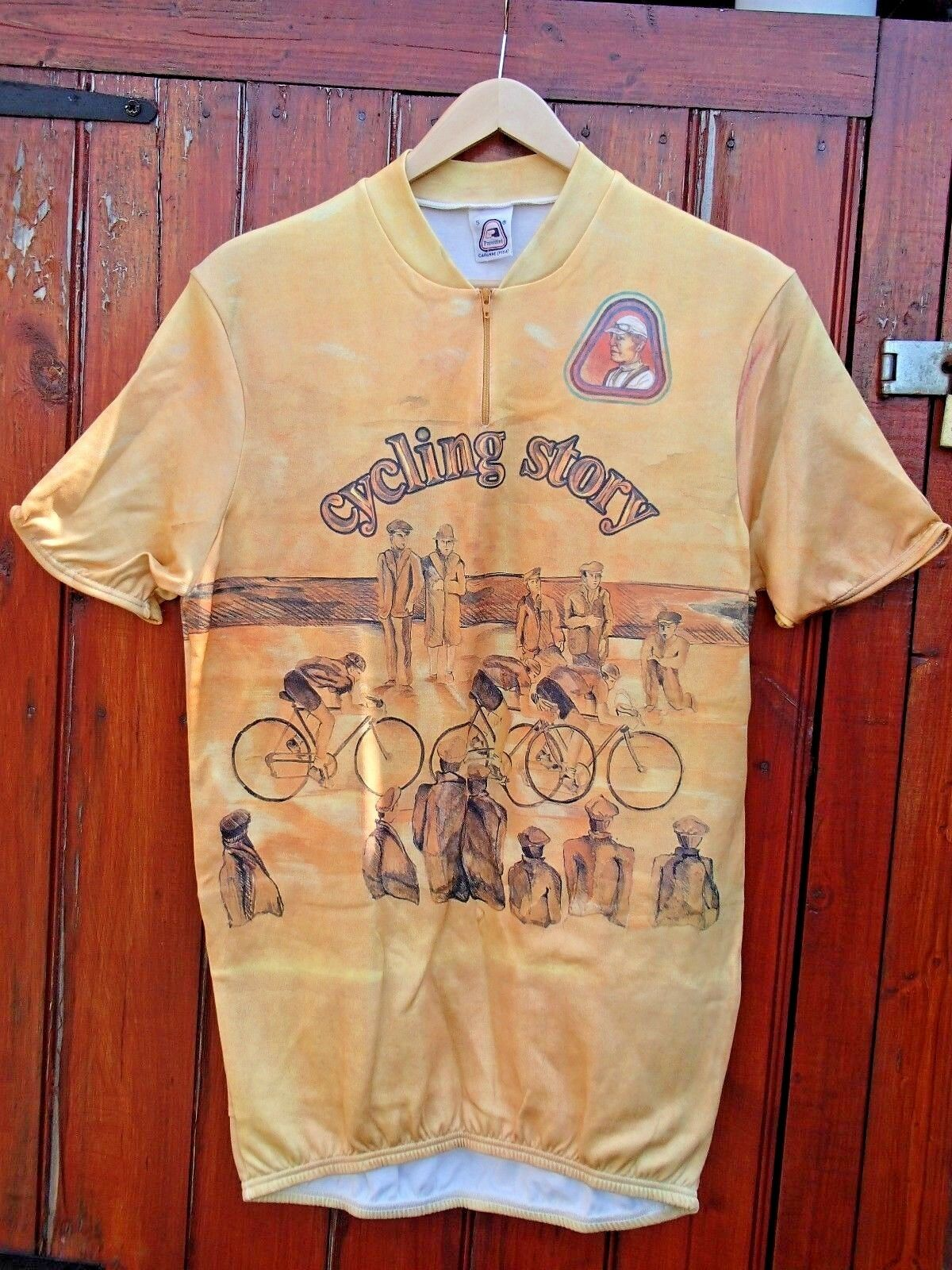 PARENTINI CYCLING JERSEY WELL MADE ITALY RRP .95 VERY RARE RETRO DESIGNED KIT