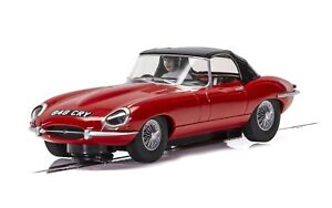 Scalextric-C4032-Jaguar-E-Type-Red-Convertible-Roof-Up-BRAND-NEW