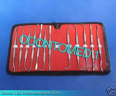 12 Pcs Sinus Lift Instruments Set Implant Dental Dentistry Double Ended