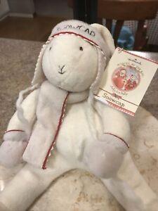 "Hallmark Bunnies by the Bay ""Snowcap"" Stuffed  Bunny Rabbit Plush 2002 New"