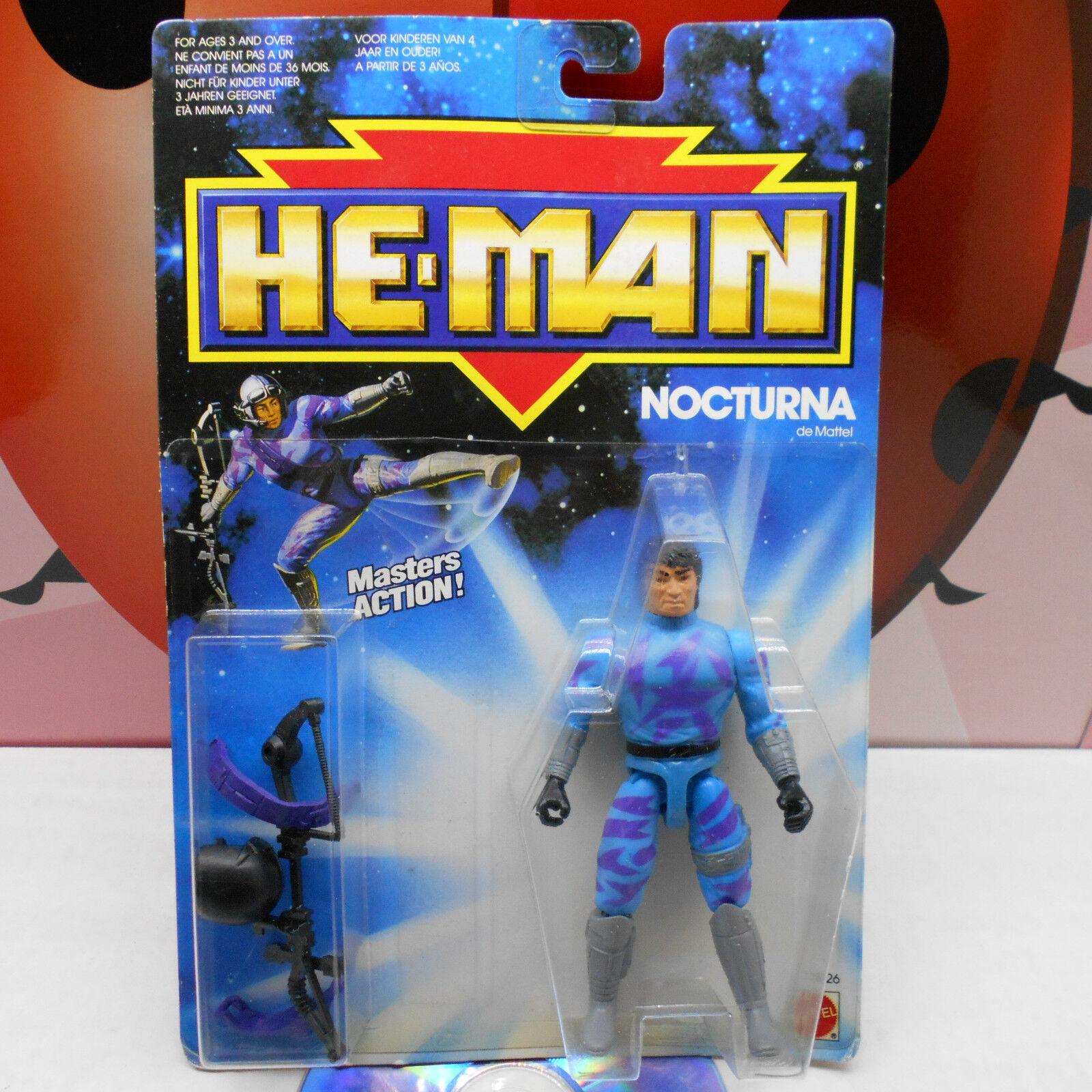 He-man nocturna 3526 proezas Masters Figura de Acción 1989 Mattel Amos Del Universo Vintage Raro