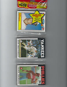 1986 Topps Rack Pack with Don Mattingly and Cal Ripken Jr. All-Star on Top.