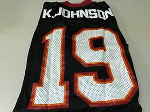 best service fdbb5 ad34a Details about NWT MEN'S KEYSHAWN JOHNSON #19 RETRO TAMPA BAY BUCCANEERS  BLACK ADIDAS JERSEY