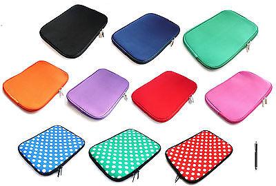 Neoprene Sleeve Zip Case Cover for Tablets 9.7 - 10.1 Inch & Black Stylus