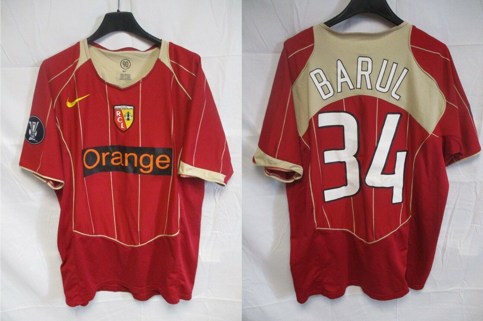 Maillot R.C LENS 2006 porté BARUL n°34 COUPE UEFA match worn shirt NIKE away L