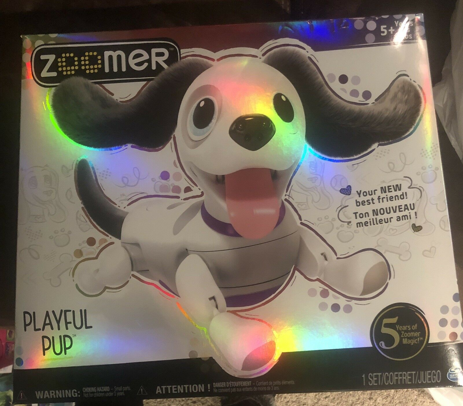 NEWZoomer Playful Pup Realistic interactive Robotic Dog Electronic Toy
