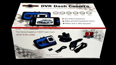 Top Dawg Eagle Eye 1080P DVR Dash Camera with G-Sensor /& 8 GB SD
