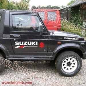 2x-vinilo-calcomania-adhesivo-Suzuki-Samurai-4x4-todo-terreno