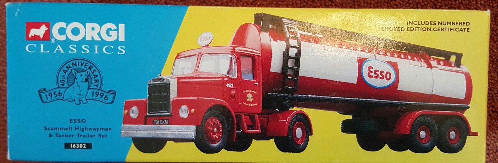 Corgi Classics ESSO Scammell Highwayman & Tanker Set 16302