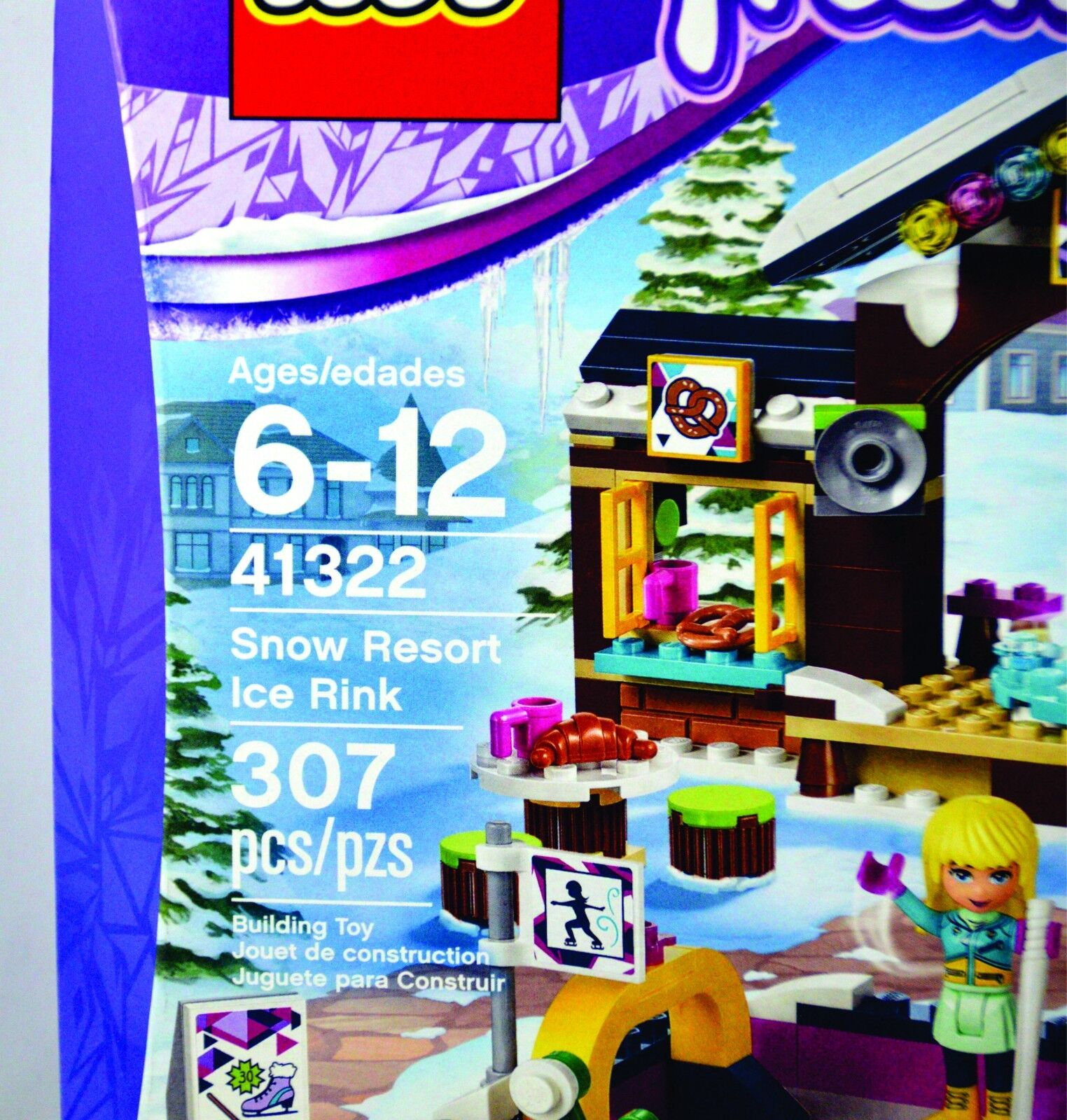 Resort Ice Toy Building Pcs Rink 307 41322 Friends Snow Lego BedrCWxo