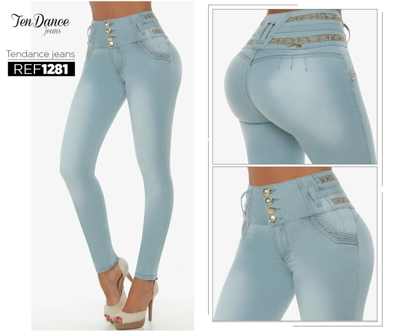 Jeans colombianos butt lifter fajas colombianas jeans levanta cola pompi 1281