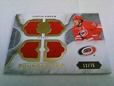 Justin Faulk 2015-16 The Cup Foundations Quad Relic /75 Hurricanes