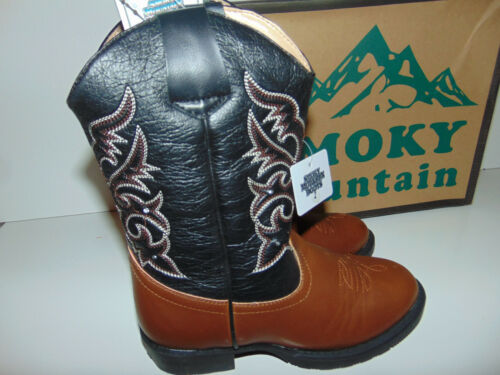Cowboy Boots SMOKY MOUNTAIN 1162 Toddler Brown /& Black Light Up YOU PICK SIZE **