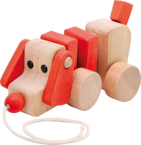 22 x 8 x 9,5 cm Hund Nachziehhund Holz ca Holzspielzeug
