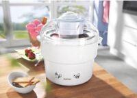 Silvercrest White/fuchsia Ice Cream, Sorbet & Frozen Yoghurt Maker Brand