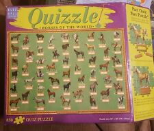 2001 Blue Opal Quizzle Horses of The World 850 Piece Puzzle NEW Sealed