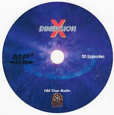 DIMENSION X - Old Time Radio - Complete Series of 50 Episodes - 1 MP3 Audio DVD