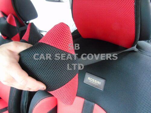 Autositzbezüge passend für Ford Mustang I BO-1 rot RECARO Netz