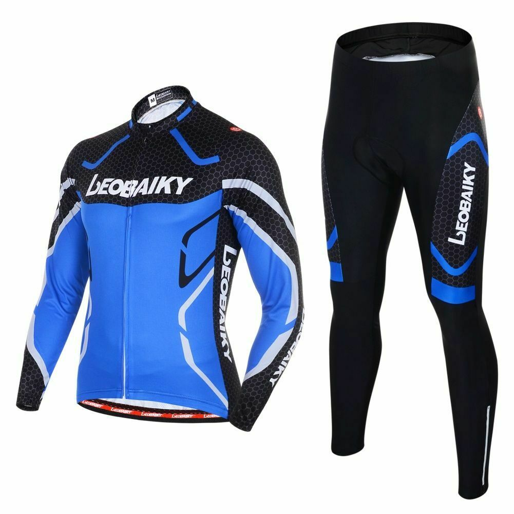 Men Cycling Jersey  Set Long Sleeves MTB Bike Clothes Bicycle Cycle Sportswear  fashion