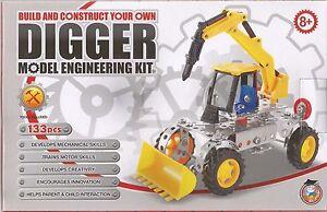 construire et construire votre propre Kit Best £ Digger Modèle Ingénierie Kit 133 pièces