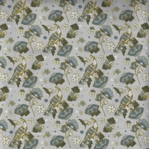 Oriental Floral Design 100/% Cotton Fabric FQ Crafting Quilting Patchwork Green