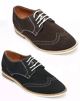 Diskret Mens Real Suede Leather Desert Brogues Lace Up Smart Shoes