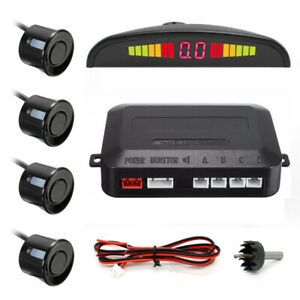 Black-LED-Display-Car-4-Parking-Sensor-Reverse-Backup-Radar-Alarm-System-Kit