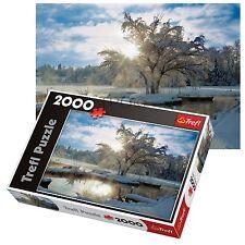 Trefl 2000 pezzi ADULTO GRANDE ALBA LAKE SUNRISE NEVE pavimento Puzzle NUOVO