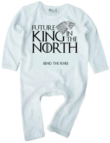 """Juego de Tronos Bebé /""""futuro rey en el norte /""""Pelele Ropa Got Boy"""