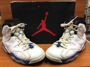 hot sale online 099ef eeed2 Details about Nike Air Jordan 6 VI Retro Seinfeld White/Sport Blue/Black  384664-107 Size 9