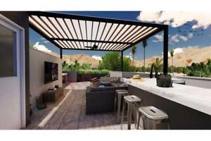Se Vende Condominio de 2 recámaras en el Sunset de CSL con terraza privada y alberca común
