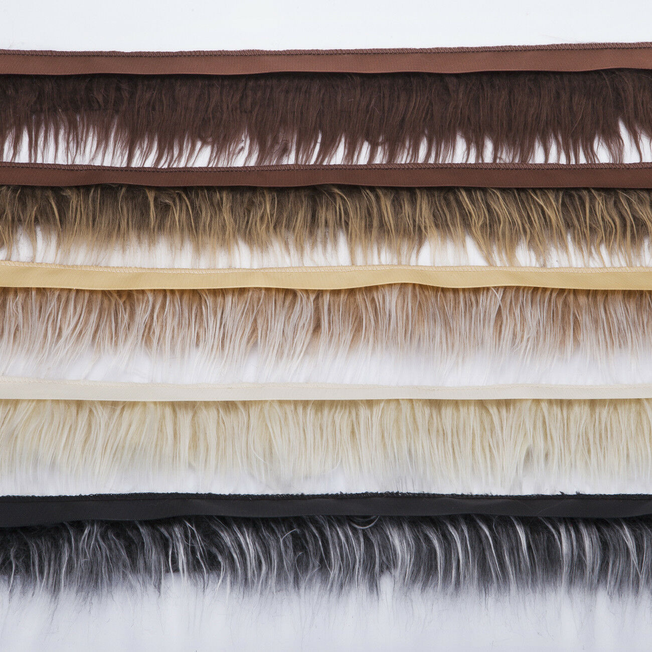 Neotrims Fake Fur Trimming Ribbon Trim Silky Soft Handle Furry Natural Texture