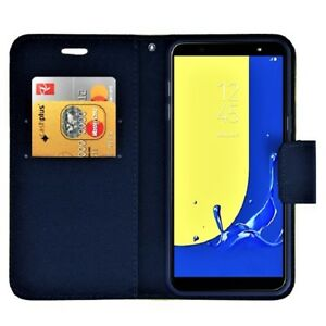BRAND-NEW-Samsung-Galaxy-Navy-Wallet-Flip-Case-Leather-PU-Magnetic-Book-Cover