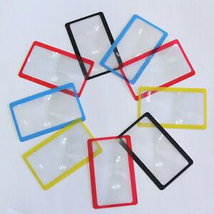 3X-Taschenlupe-Vergroesserungswerkzeug-Lesen-Kreditkarte-Brieftasche-Clip-Lupe-ZP