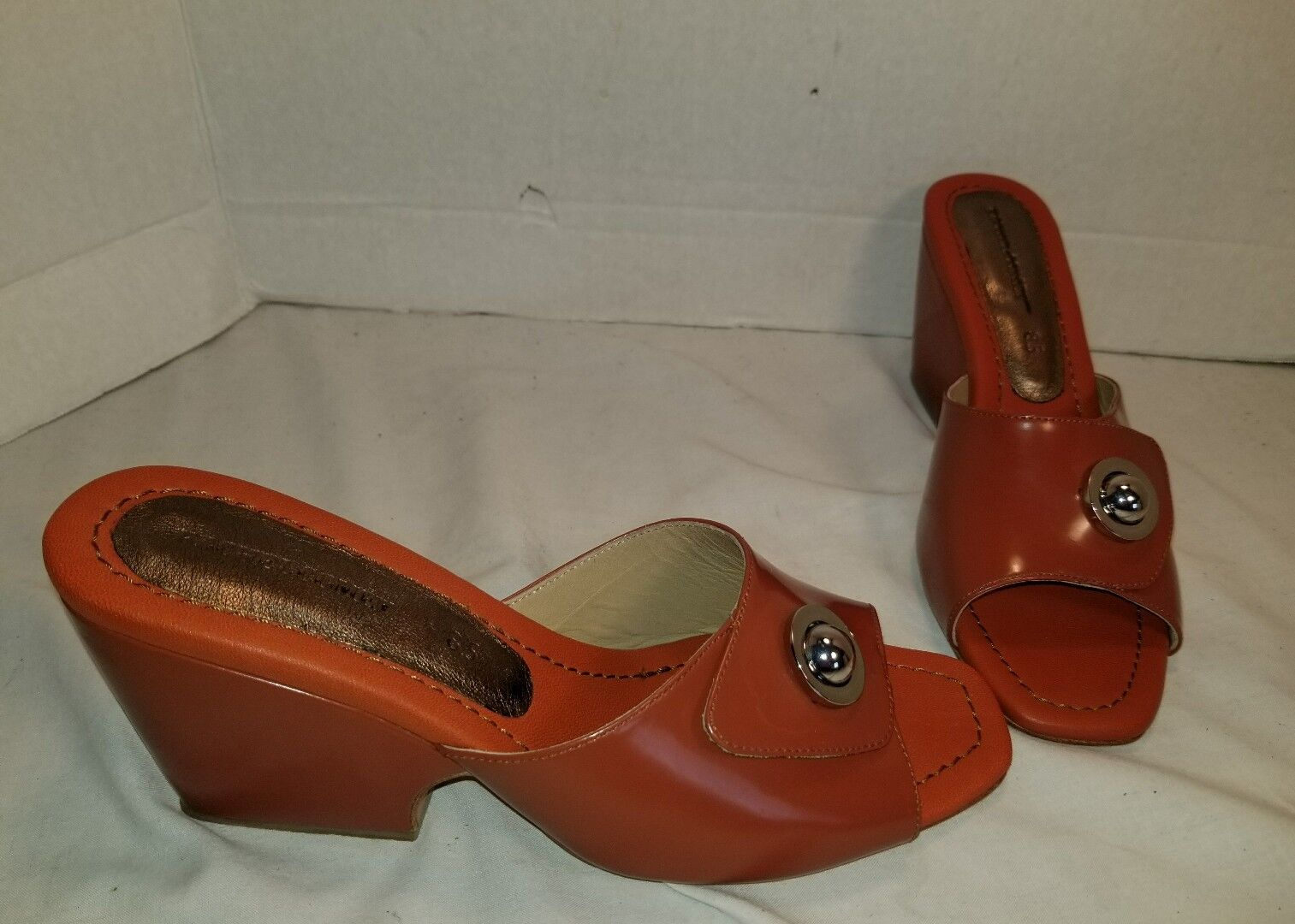 NEW ANTHROPOLOGIE RACHEL COMEY HESS PATENT LEATHER MULES WOMEN'S US 8.5