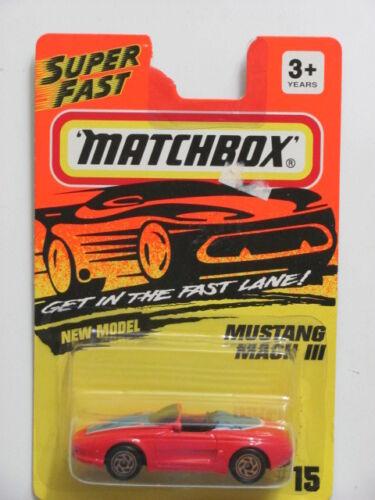 MATCHBOX 1993  MUSTANG MACH III RED #15