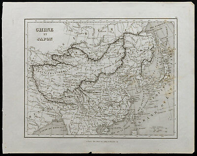 Antique Old Map Of 1836c China And Japan Map Geographical Of Monin Outstanding Features