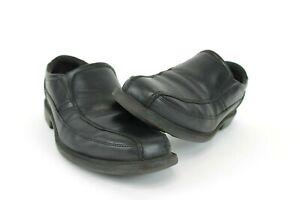 Rockport-Style-Leader-2-Bike-Toe-Black-Leather-Loafers-Men-039-s-Size-9-5-M-Black