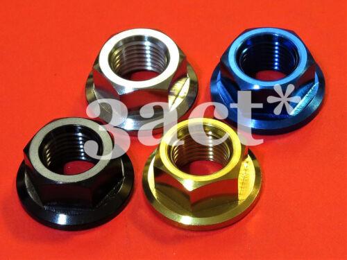 Ti Gold Blue Black M12 x 1.25mm Pitch Titanium Ti Sprocket Flange Bolt Nut