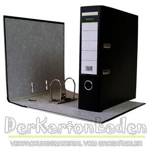 5-x-Ordner-A4-8-cm-PP-Kunststoff-Schwarz-Aktenordner-Briefordner-Breit-80-mm