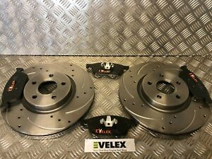 DRILLED-amp-GROOVED-FRONT-BRAKE-DISCS-amp-PADS-FORD-TRANSIT-CONNECT-2013-gt
