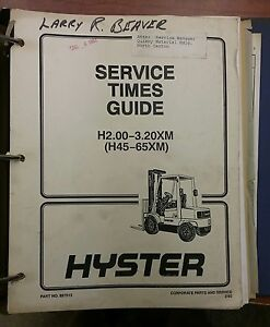 Astounding Hyster Forklift Manual H2 00 3 20Xm 897515 Ebay Wiring Cloud Hisonuggs Outletorg
