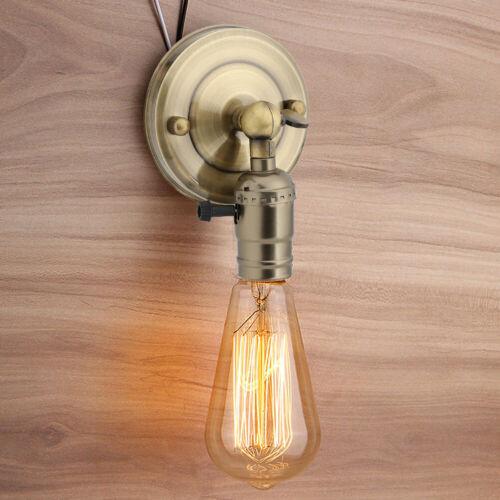 E27 Vintage Lampenfassung Fassung Socket Wand Lampensockel Retro Lampenhalter