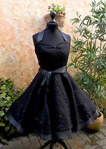 e3e9e5a4aec1 Das Bild wird geladen 50er-Petticoat-Rockabilly-Abend-Coktail-Party-Abiball- Kleid-