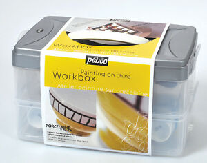 Pebeo Porcelaine 150 Oven Dishwasher Safe Ceramic Paint Workbox