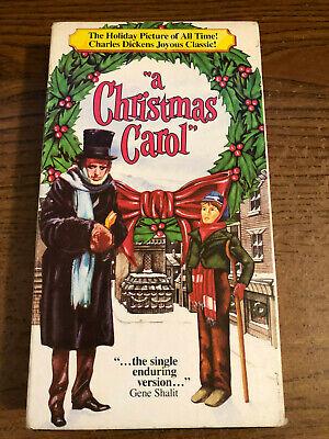 A Christmas Carol VHS VCR Tape Movie Alastair Sim NR Used 89859111938 | eBay