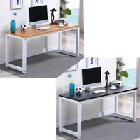 Home Office Desk Corner Computer Pc Writing Table Workstation Wooden & Metal