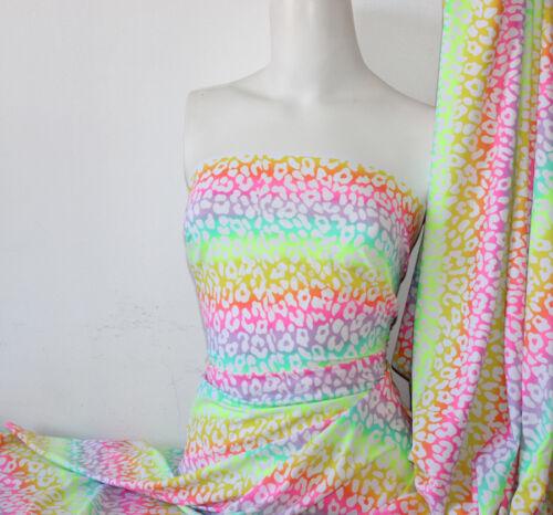 Animal print Lycra//Spandex 4 way stretch Finish Fabric