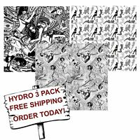Hydrographic Film Water Transfer Printing Film Hydro Dip Fantasy Girl 3 Pack