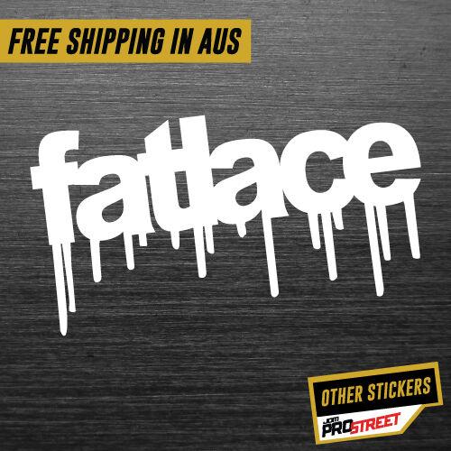 FATLACE GRAFFITI JDM CAR STICKER DECAL Drift Turbo Euro Fast Vinyl #0366